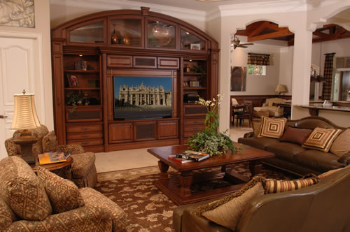 Entertainment Center by AWR Cabinets, Inc - a custom cabinet and architectural millwork manufacturer